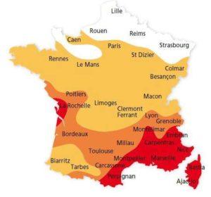 Carte de micro climat - Tourisme Marais Poitevin