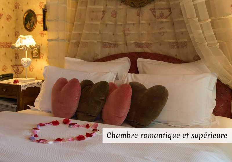 Chambres romantiques et supérieures - séjour famille en chambres d'hotes