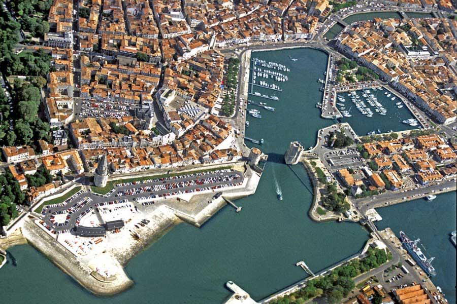 Le vieux Port de La Rochelle - Vue du ciel